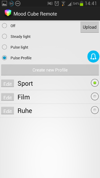 MoodCube Android App